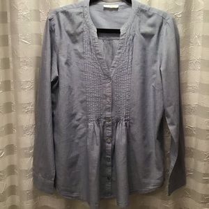 BLL New York Chambray Pintuck Bodice Blouse